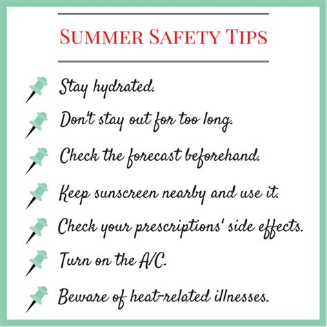 Some Tips For Summer by Safety Tips For Summer And