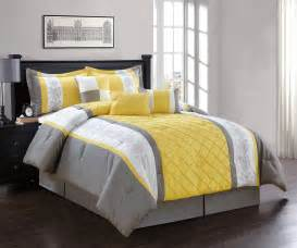 Yellow Comforter by 7 Yellow Gray White Comforter Set Ebay