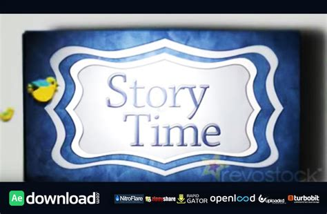 revostock after effects templates free story time book after effects template fluxvfx free