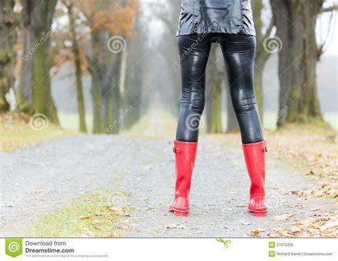wearing rubber boots wearing rubber boots royalty free stock image