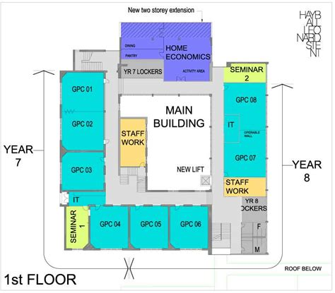 school floor plan pdf fitzroy high school masterplan