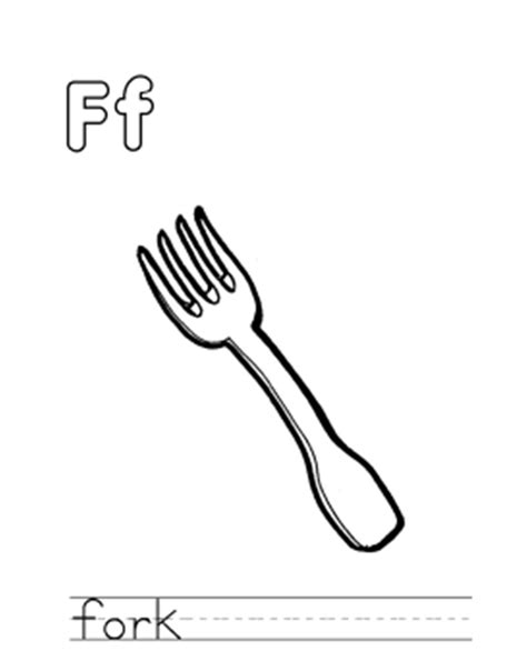 Fork Coloring Page Coloringcrewcom Sketch Coloring Page Fork Template Printable