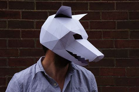 3d mask template diy geometric paper masks that you can print out at home