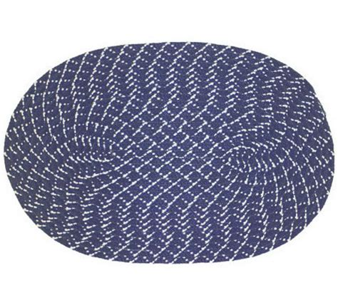 Oval Rugs 7x9 by Sunsplash Oval Braided 7x9 Indoor Outdoor Rug Qvc