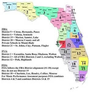 school districts map florida school association