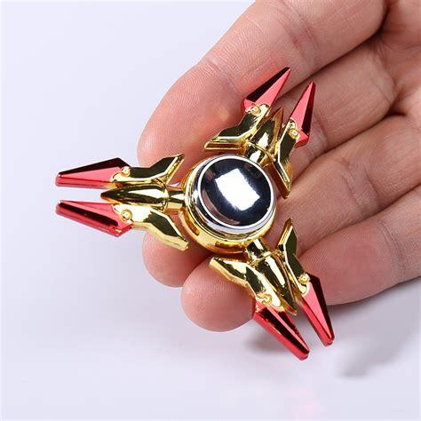Fidget Spinner Spinner Spinner Tale Motif triangle edc anti stress fidget spinner in golden 6 5 6 5cm sammydress