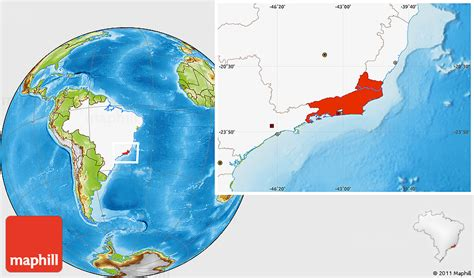 de janeiro on a world map physical location map of de janeiro highlighted country