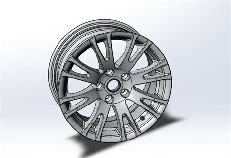 solidworks tutorial alloy wheel solidworks part reviewer aluminum alloy wheel