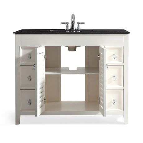 42 bathroom vanity with granite top palmer 42 quot bath vanity with black granite top walmart canada