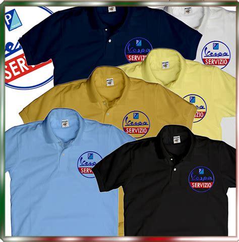 Polo Shirt Piaggio S M L Xl Merah scooter polo shirt vespa roller servizio lambretta piaggio