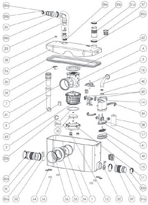 saniflo spare parts diagram upflushers parts