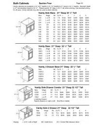 ideas standard bathroom base cabinet dimensions standard