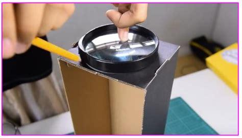 Proyektor Mini Bekas inilah cara mmbuat proyektor ponsel dari kardus bekas