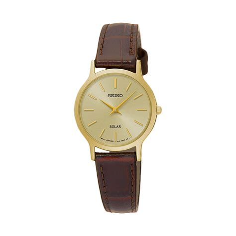 Jam Tangan Seiko Untuk Wanita jual seiko solar sup302p1 gold jam tangan wanita harga kualitas terjamin blibli