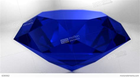 Gamis Blue Saphire sapphire blue gemstone gem spinning stock animation 4280062