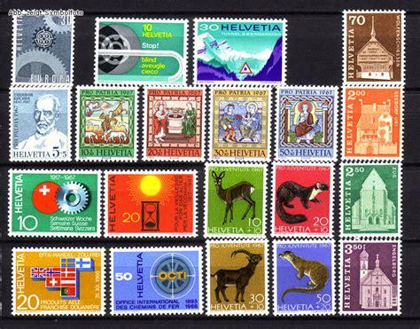 Schweiz Briefmarken Kaufen Briefmarken Schweiz Jahrgang 1967 Komplett Michel Nr 850 869 Postfrisch G 252 Nstig Kaufen Im