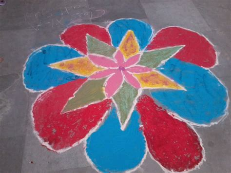 Handmade Rangoli - handmade rangoli pictures pebble in the still waters