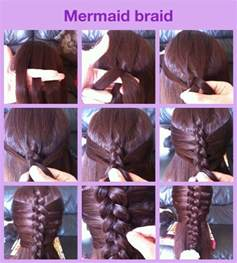 braids updo for hairstep by step mermaid braid step by step hair pinterest brides