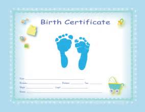Baby Birth Certificate Template by Free Printable Baby Birth Certificates