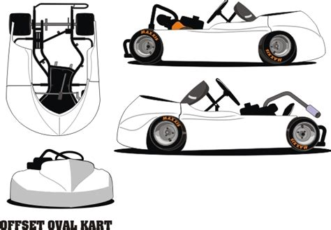 graphics and decals for racing go karts oval flat karts