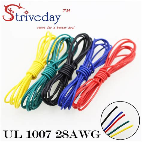 blue yellow electrical wires striveday 1007 28awg cable copper wire 1 meter each