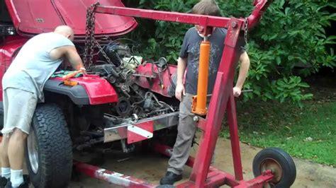 jeep wrangler yj engine swap  process part  youtube