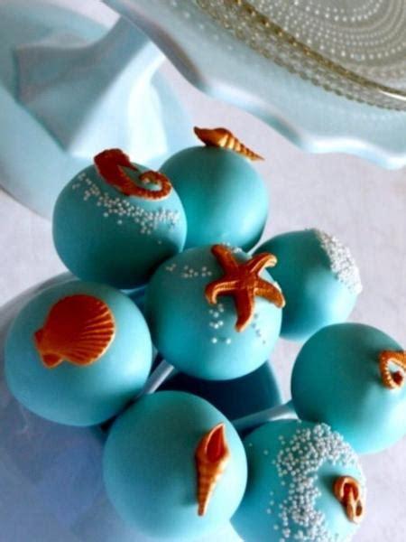 ocean themed beach wedding cake pops candy cake weddings