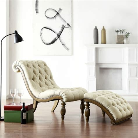 bellagio beige linen button tufted curved chaise lounge with ottoman why we love pantone s color hazelnut for living room chairs