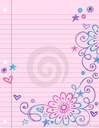 printable notebook paper with designs cute notebook paper images frompo