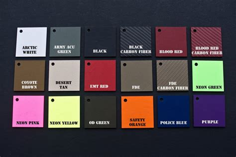 Topi Custom Colours Printing 1 kydex colors holsters patriot holsters handmade in kydex custom holsters