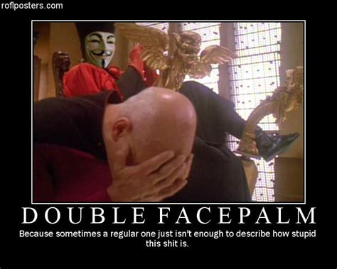 Double Facepalm Meme - star trek meme captain facepalm