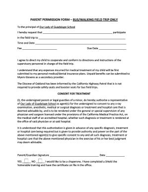 Parents Consent Letter For Field Trip field trip parent permission bformb buswalking field trip