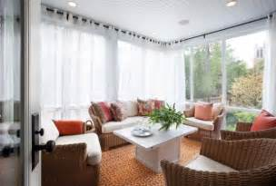 How To Wrap Curtains Around Curtain Rods 35 Beautiful Sunroom Design Ideas
