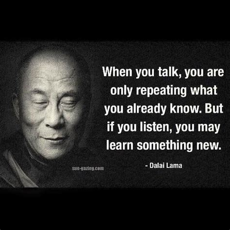 Talk Only when you talk you are only repeating what you already