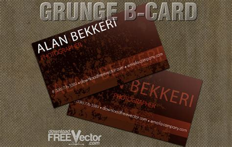 B Card Template by Vector Grunge B Card Template Vector Free