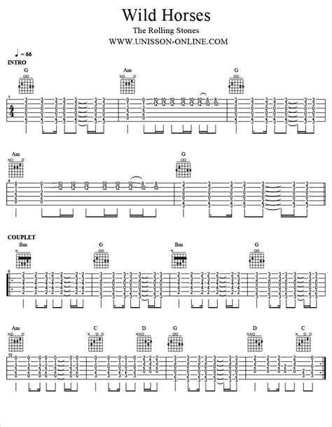 guitar tutorial wild horses tablature guitare acoustique yi29 jornalagora