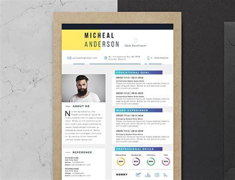 10 fresh free resume design templates 2017 available on dropbox brent davidson