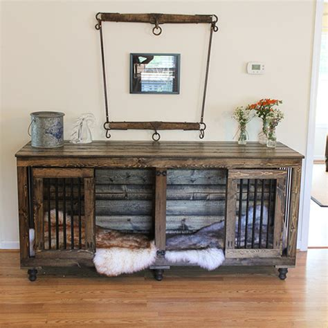 kennel furniture beautiful indoor wooden kennels and crate furniture
