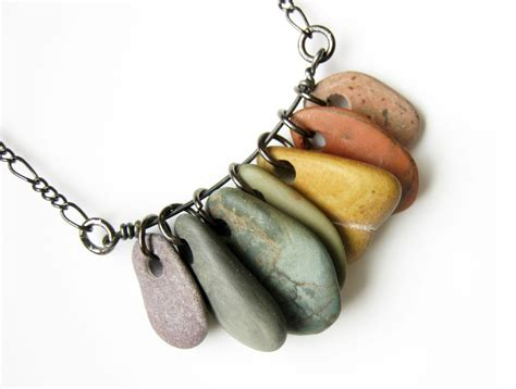jewelry with stones jewelry rainbow necklace rock collections