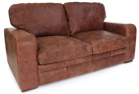 urbanite rustic leather 2 seater sofa from boot sofas