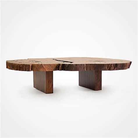 Pequi Slice Coffee Table Parallel Wood Legs Rotsen Wood Slice Coffee Table