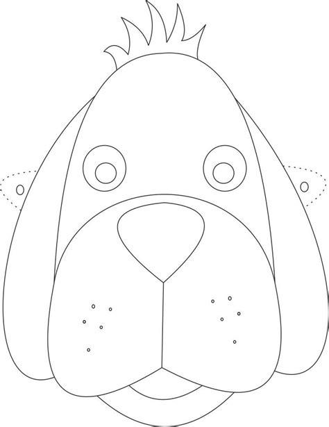 printable dog mask template 10 m 225 scaras de animais para imprimir blog cantinho
