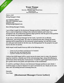 Cover Letter For Assistant Restaurant Manager by Food Service Cover Letter Sles Resume Genius