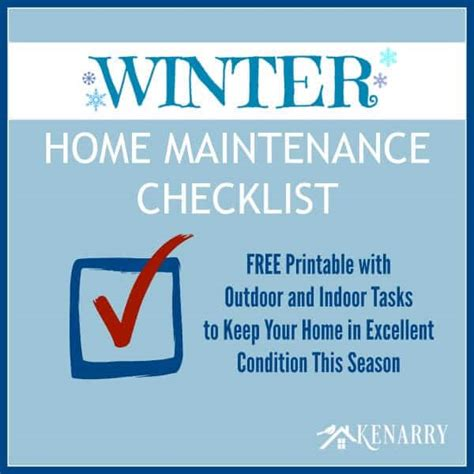 home maintenance tips for winter images winter home maintenance checklist free printable
