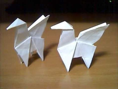 Origami Pegasus - origami pegasus folding origami