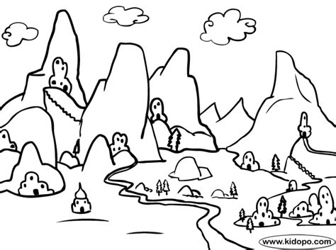 jungle landscape coloring pages a jungle landscape colouring pages