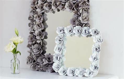 Mirror Craft Paper - hometalk paper flower frames ornaments diy wednesday