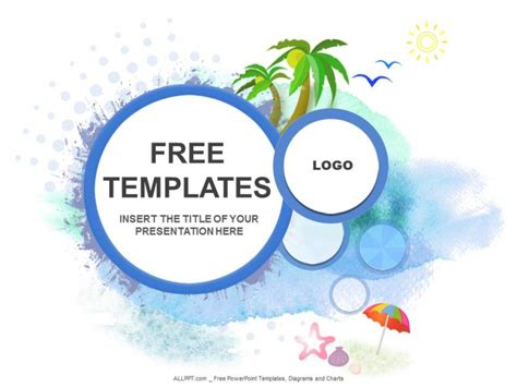 free powerpoint design templates palm trees shells ppt design free daily updates