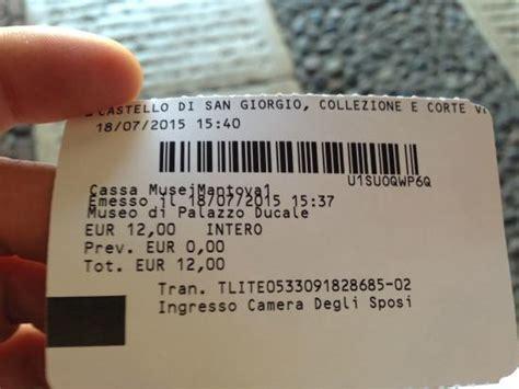 biglietto ingresso colosseo biglietto foto di museo di palazzo ducale mantova