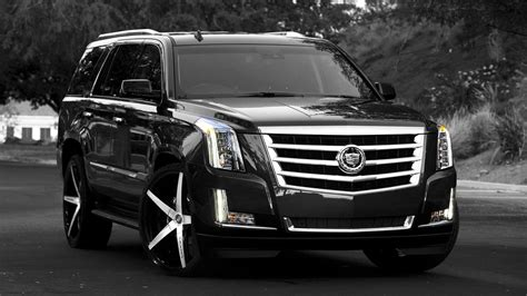 The Black Cadillacs by Pin Black Cadillac Suv With Custom 28 Wheels Escalade